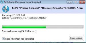 InstantRecovery Snapshot
